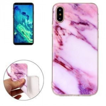 Чехол на iPhone X/Xs Pink Marble Pattern розовый мрамор