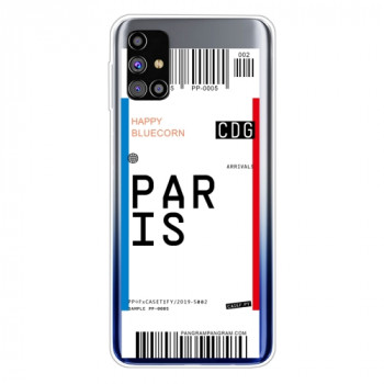 Противоударный чехол Boarding Pass Series на Samsung Galaxy M51 - Paris