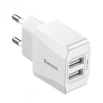 Зарядное устройство Baseus 2.1A Output 2 USB Mini Travel Charger на iPad , iPhone, Galaxy, Huawei, Xiaomi