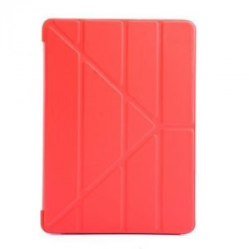 Чехол- книжка Solid Color Trid-fold + Deformation Viewing Stand на iPad 9.7 2017 / 2018 - красный