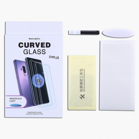 3d защитное стекло UV Liquid Curved Full Glue Full Screen Tempered Glass на Samsung Galaxy S9
