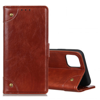 Чехол-книжка Copper Buckle Nappa Texture на Samsung Galaxy Note10 Lite / A81-коричневый