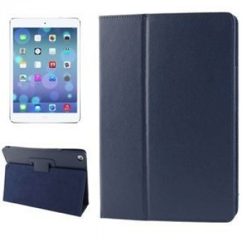 Чехол Litchi Texture Case Sleep / Wake-up темно-синий для iPad Air