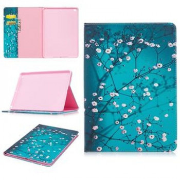 Чехол Color Painting Wallet Style на iPad 2017/2018 9.7 - Pink Flower Tree