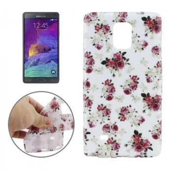TPU Чехол Chinese Rose для Samsung Galaxy Note 4