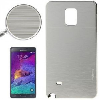 Чехол  Motomo Brushed Texture Metal and Plastic на Samsung Galaxy Note 4 / N910(Silver)