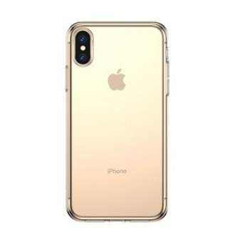 Чехол Baseus Simple series case на iPhone Xs Max золотой