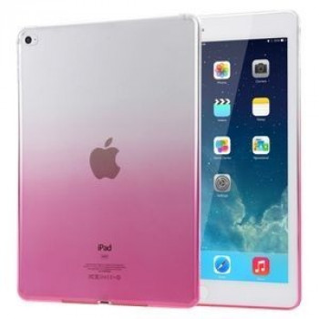 Прозрачный TPU чехол Haweel Slim Gradient Color Clear Pink для iPad Air 2