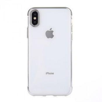 Чехол на iPhone X/Xs  Three Sections Electroplating Side TPU серебристый