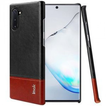 Чехол IMAK Ruiyi Series Concise Slim на Samsung Galaxy Note 10- черно-бордовый