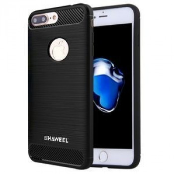 Чехол HAWEEL для iPhone 8 Plus / 7 Plus   Brushed Carbon Fiber Texture Shockproof  черный