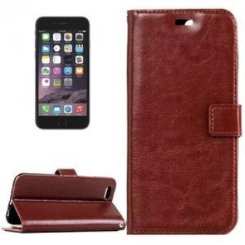 Кожаный Чехол Книжка Crazy Horse Texture Magnetic Buckle Brown для iPhone 6/ 6S