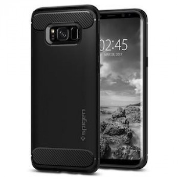 Оригинальный чехол Spigen Rugged Armor на Samsung Galaxy S8 Black