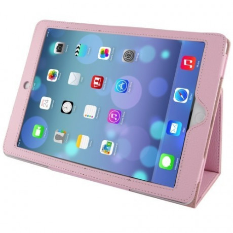 Чехол Litchi Texture Case Sleep / Wake-up розовый для iPad Air