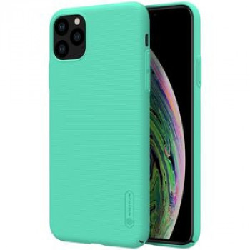 Чехол NILLKIN Frosted Shield Concave-convex Texture PC на iPhone 11 Pro Max -мятно-зеленый