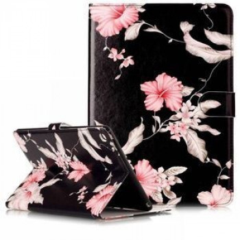 Кожаный Чехол Colored Painting Wallet Flowers для iPad Air 2