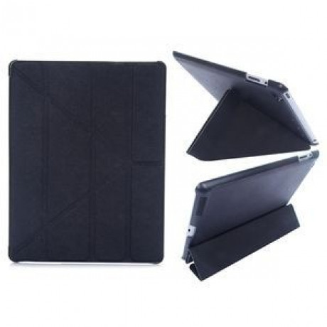 Чехол Cross Pattern Foldable Transformers  черный для iPad 4/ 3/ 2