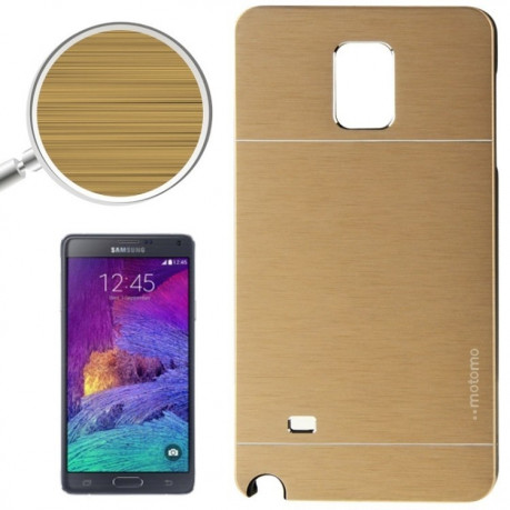 Чехол  Motomo Brushed Texture Metal and Plastic на Samsung Galaxy Note 4 / N910(Gold)