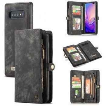 Чехол-кошелек CaseMe 008 Series Folio Zipper Wallet Style на Samsung Galaxy S10 - черный