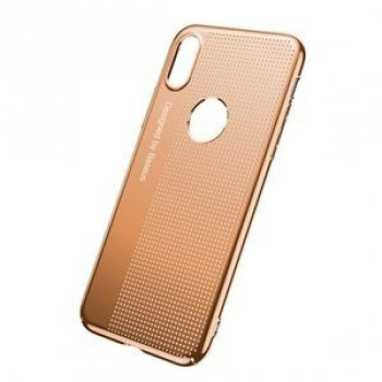 Чехол Baseus на iPhone X Mesh Hole Design Gold