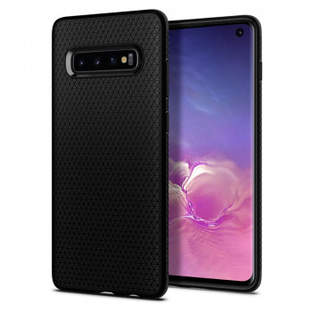 Оригинальный чехол Spigen Liquid Air для Samsung Galaxy S10+ Plus Matte Black