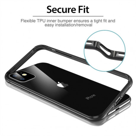 Бампер ESR Edge Guard Aluminum Alloy на iPhone 11 - черный