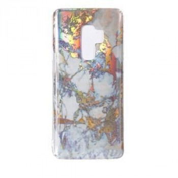 Чехол накладка на Samsung Galaxy S9+/G965 Color Plating Marble Texture (Gold)