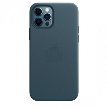 Кожаный Чехол Leather Case MagSafe Baltic Blue для iPhone 12 Pro Max