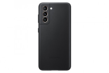 Оригинальный чехол Samsung Leather Cover для Samsung Galaxy S21 - black