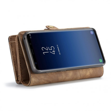 Кожаный чехол-кошелек CaseMe на Samsung Galaxy S9+/G965 Detachable Multifunctional(Coffee)