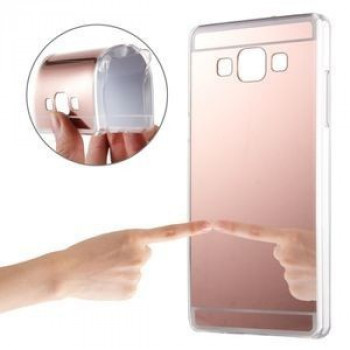 Зеркальный TPU Чехол Electroplating Mirror Rose Gold для Samsung Galaxy A5 / A500