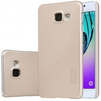 Чехол Nillkin Super Frosted Shield Gold плюс пленка на эран для Samsung Galaxy A3 (2016)/ A310