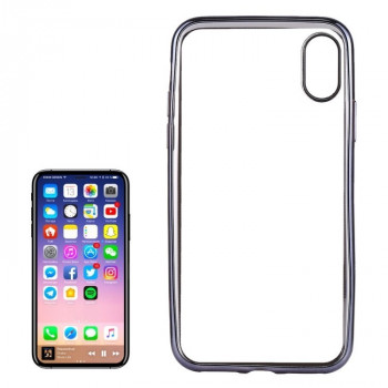 Чехол на iPhone X/Xs Electroplating Side серый