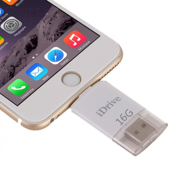 USB флешка iDrive iReader Flash Memory Stick 16GB 8 Pin для iPhone 6, 6s, iPhone 6 Plus, 6s Plus, iPhone 5, 5C, 5S