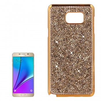 Пластиковый Чехол Electroplating Diamond Gold для Samsung Galaxy Note 5