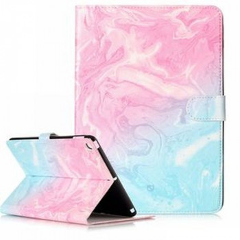 Чехол Colored Painting Wallet Stand на iPad 2017/2018 9.7/Air/Air 2/ - розовый и синий