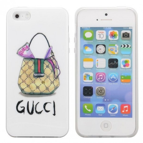 TPU Чехол Fashion Bag Pattern Gucci для iPhone 5, 5S, SE