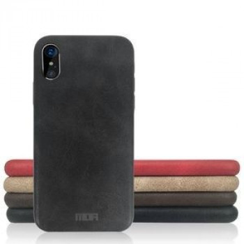 Чехол MOFI Initial Heart Series на iPhone X/Xs Crazy Horse Texture черный