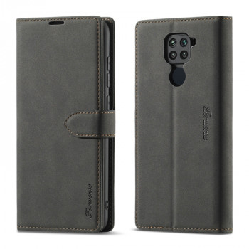 Чехол-книжка Forwenw F1 Series для Xiaomi Redmi Note 9 - черный
