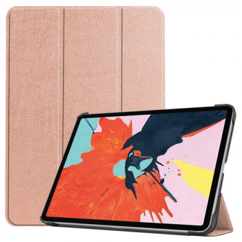 Чехол Custer Texture Three-folding Sleep/Wake-up на iPad Air 10.9 2020 - розовое золото