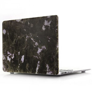 Чехол Marble Series Super Slim Anti-Scratch Heat Resistance на Apple Macbook Pro 15.4 Inch with Touch Bar A1707 - Black Green