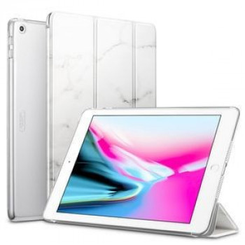 Чехол-книжка ESR Marble Series Three-folding Magnetic на iPad 9.7 (2018) / (2017)-белый мрамор