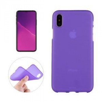 Чехол на iPhone X Solid Color Frosted фиолетовый