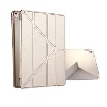 Чехол Silk Texture Deformation Flip Sleep / Wake-up Champagne Gold для iPad Pro 10.5