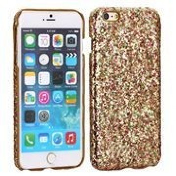 Пластиковый Чехол Multi Color Glitter Powder Gold для iPhone 6, 6S