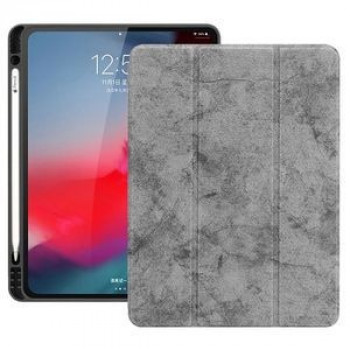 Чехол-книжка Three-folding Flip Magnetic Premium PU Leather на iPad Pro 11 inch 2018-серый