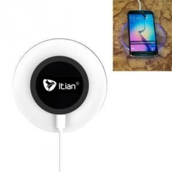 Беспроводная Зарядка Itian A9 Qi Standard LED Indicator Black для iPhone/ Samsung Galaxy