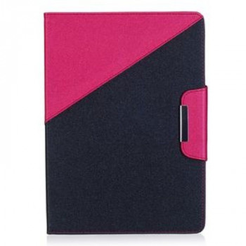 Чехол Double Color Magnetic Buckle Case на iPad 2017/2018 9.7 (A 1822/ A 1823)  - Rose Red + Black