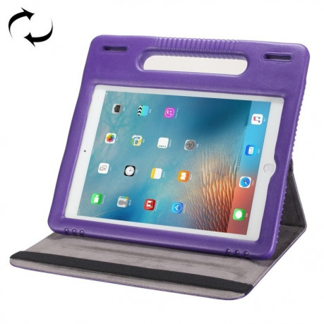 Противоударный Чехол 360 Degree EVA Bumper Sleep / Wake-up Purple с ручкой на iPad 9.7 (2018/2017)