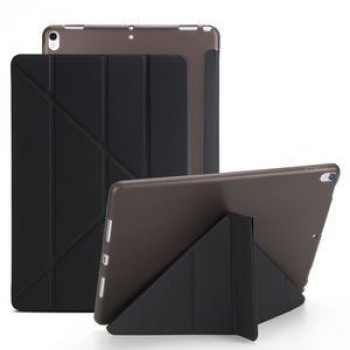 Чехол- книжка Solid Color Trid-fold + Deformation Viewing Stand на  iPad  8/7 10.2 (2019/2020)/Air 2019/Pro 10.5 - черный